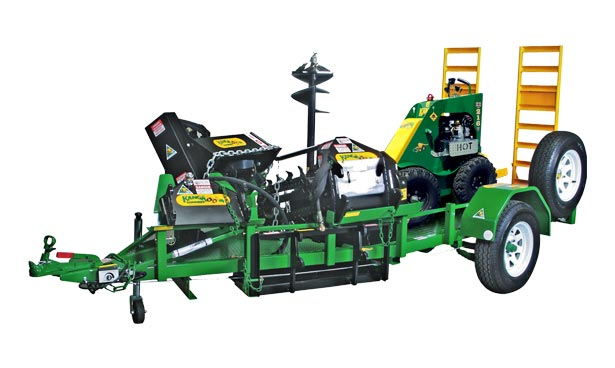 mini loader trailer for kanga loader & attachments