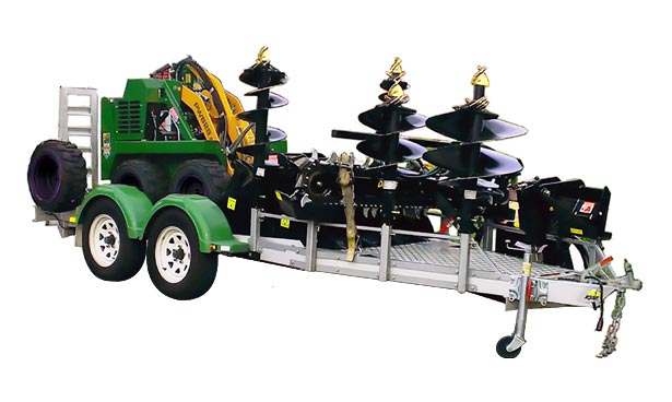 compact loader trailer for kanga loader & attachments