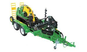 mini skid steer trailer for kanga loader & attachments