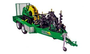 compact utility loader trailer for kanga loader & attachments