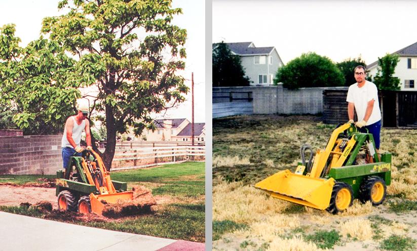 Kanga Loaders Landscaping in 2002