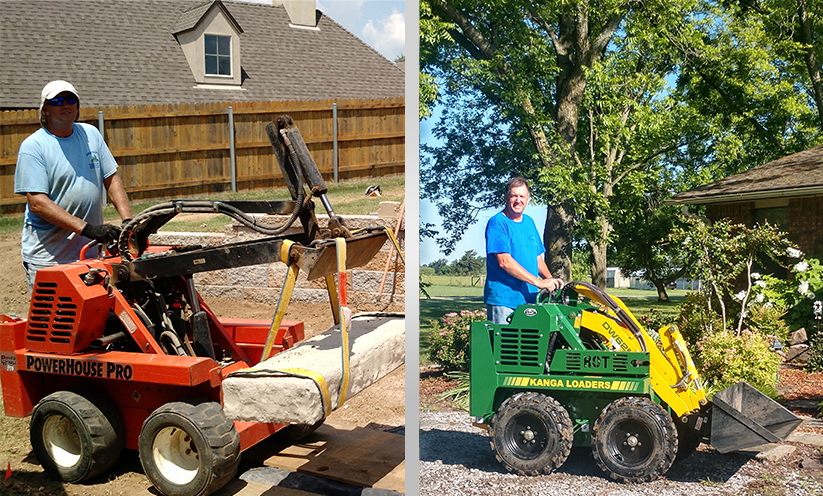 Armstrong Landscaping - Kanga compact loaders working in the field