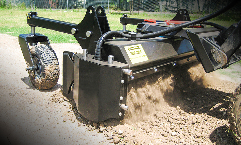 Mini Soil Conditioner Attachment - Landscaping Rake for Kanga Loaders