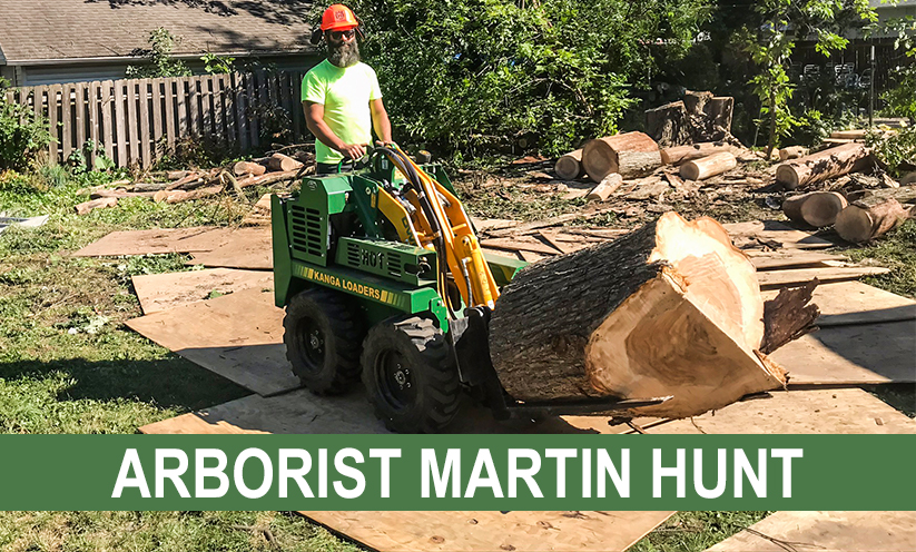 Arborist Martin Hunt with his Kanga Loader