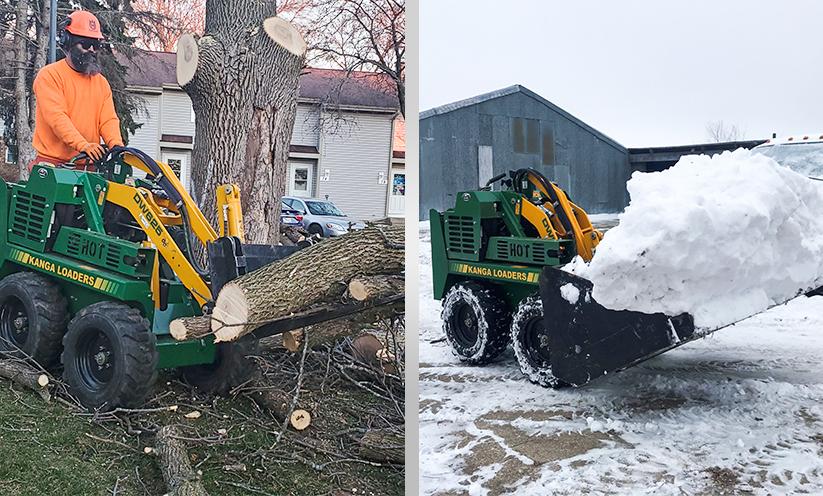 Kanga Loader Tree Services Mini Skid Steer Attachments